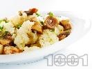 Рецепта Салата от бланширани гъби печурки с карфиол